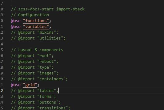 【bootstrap5】@importを@useに変更してみる①